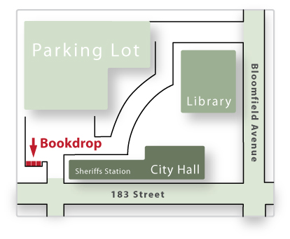 Cerritos Civic Center Bookdrop Location Map